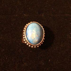 Sz 9 blue Premier Designs ring